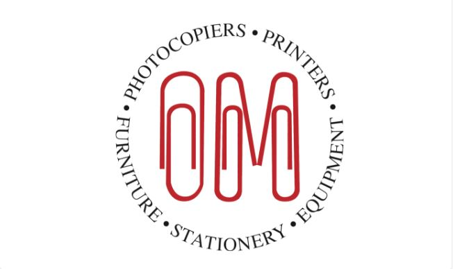 O & M Office Supplies logo - http://omoffice.co.uk